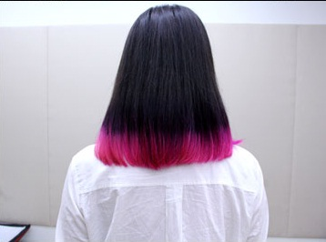 short black hairstyles with pink highlights